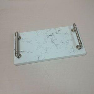 Quartz Stone vanity tray serving platter carrara x